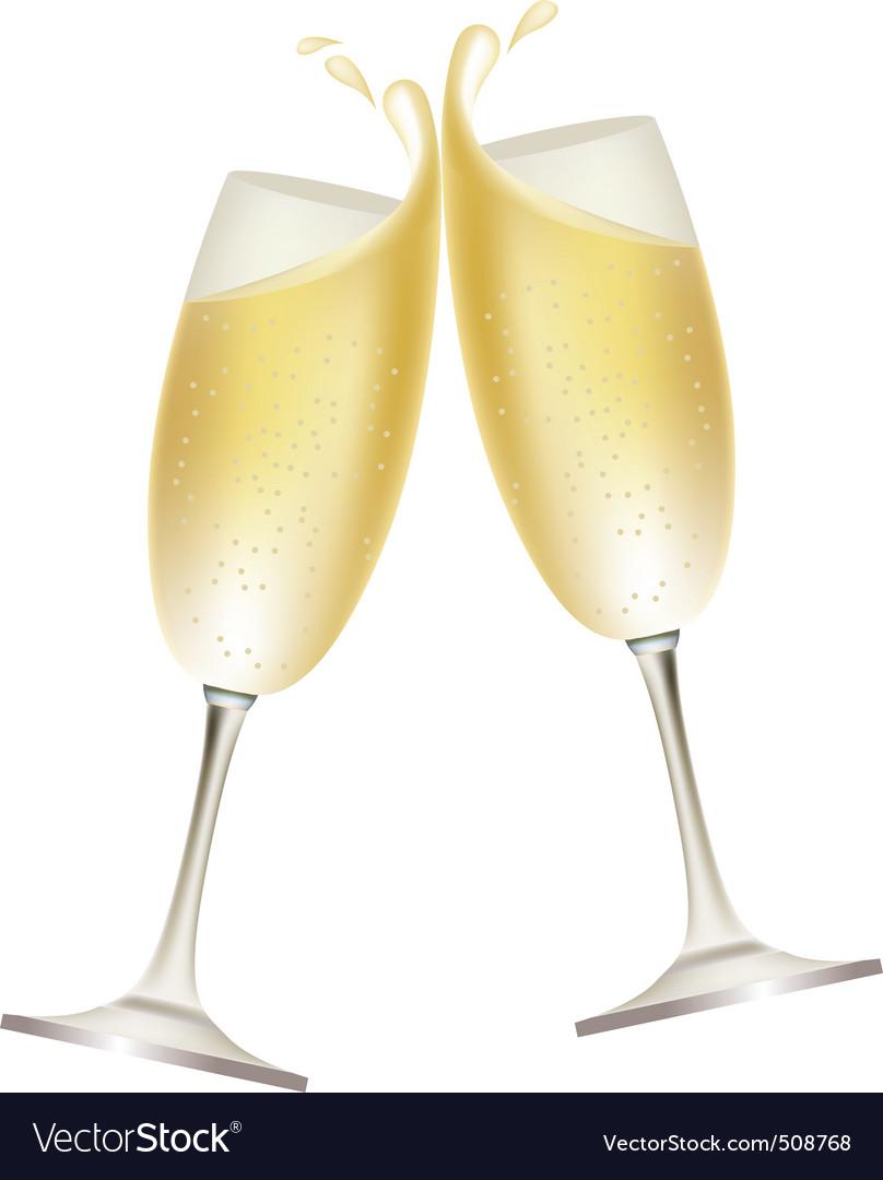 Champagne splash vector