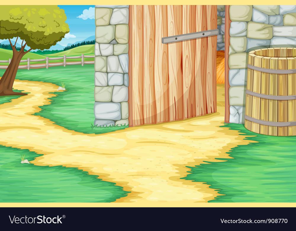 Barn door vector