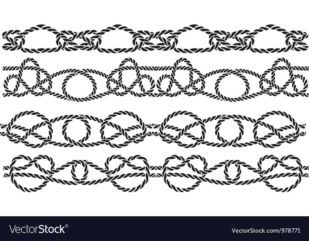 Sea knott pattern vector
