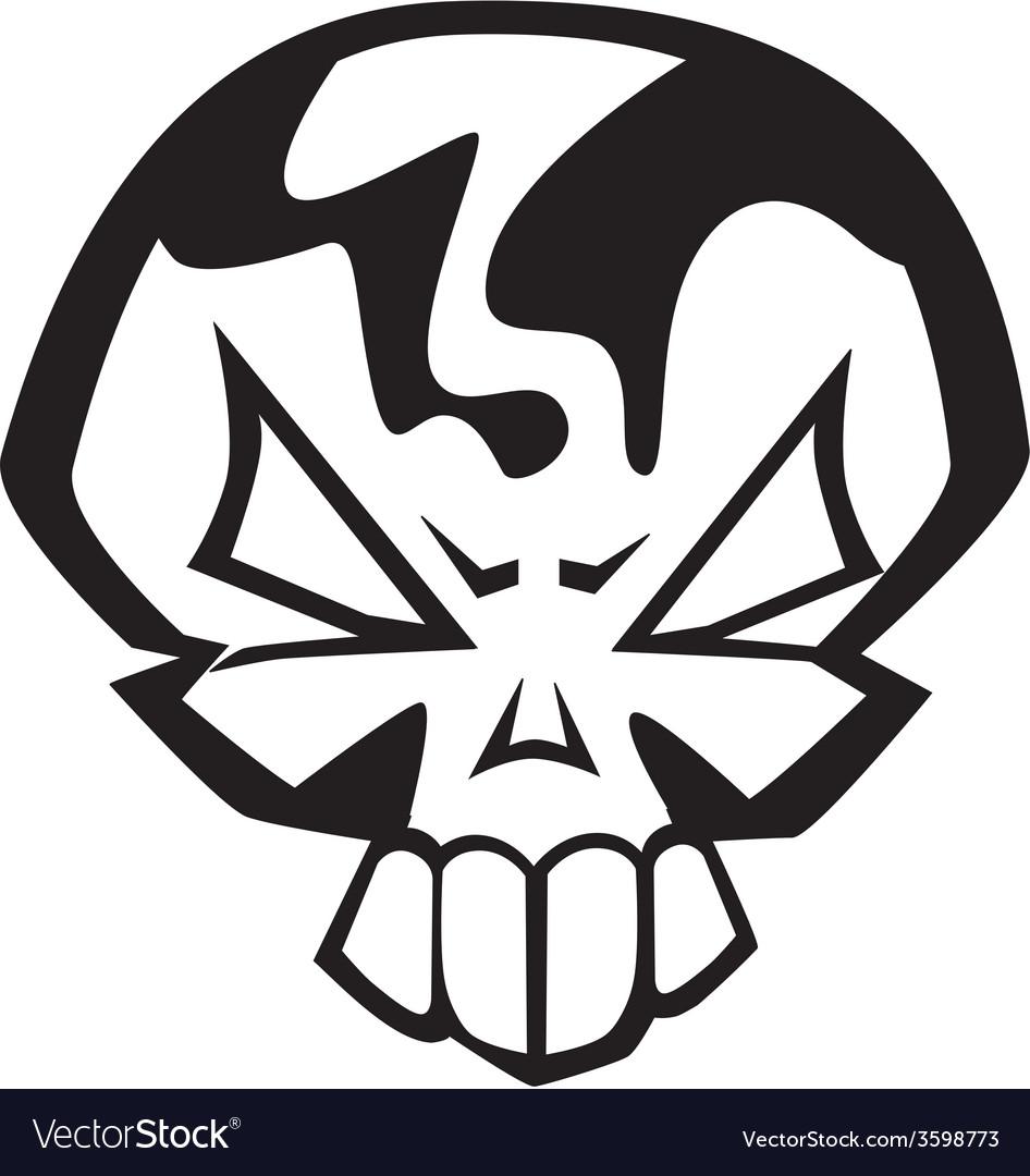 Angry skull vector