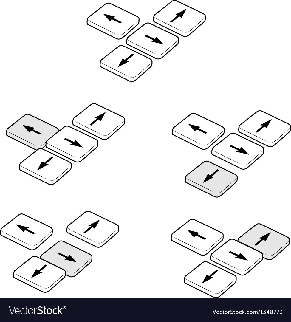 Direction keys actions vector