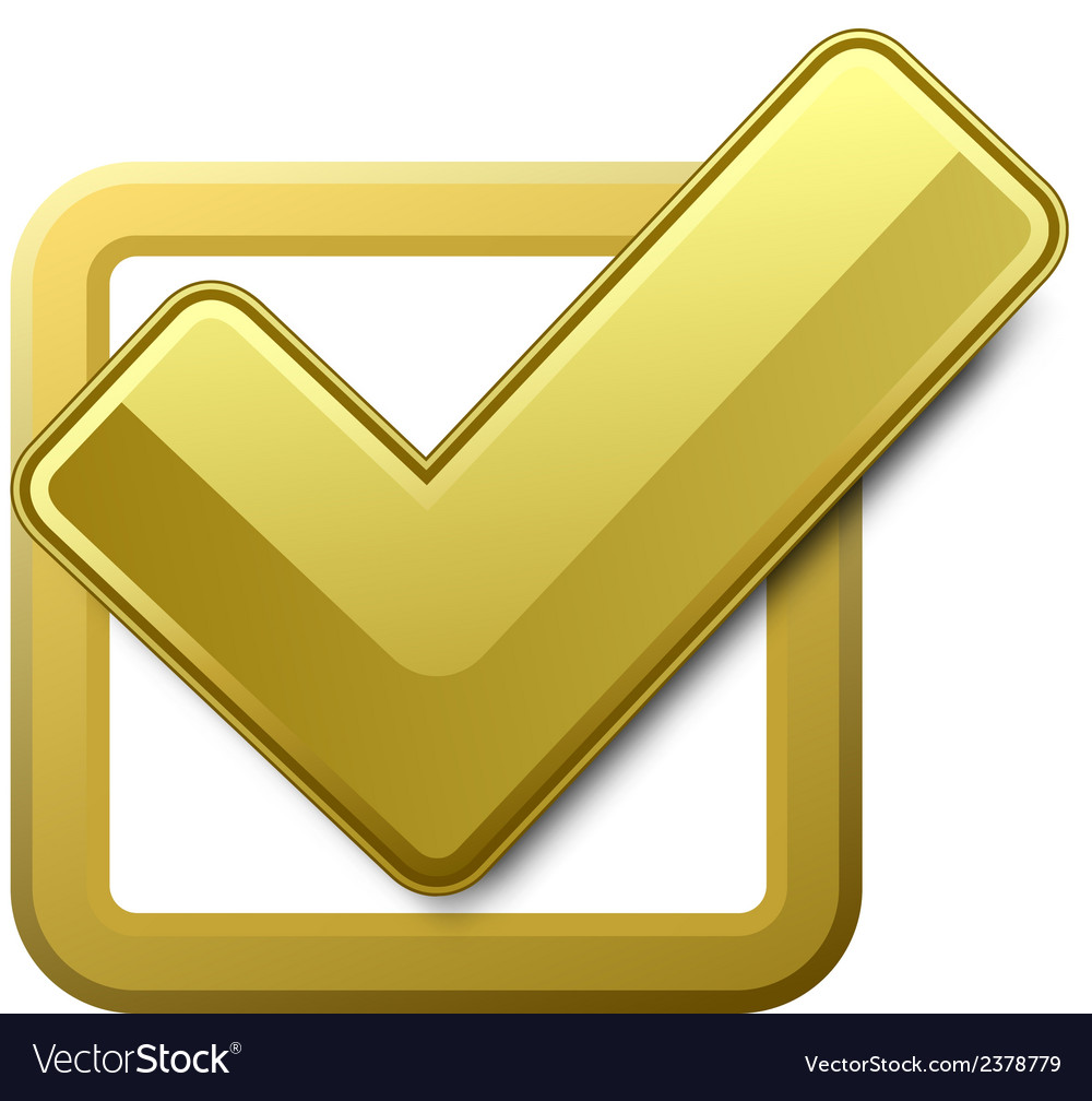 Yellow check box vector