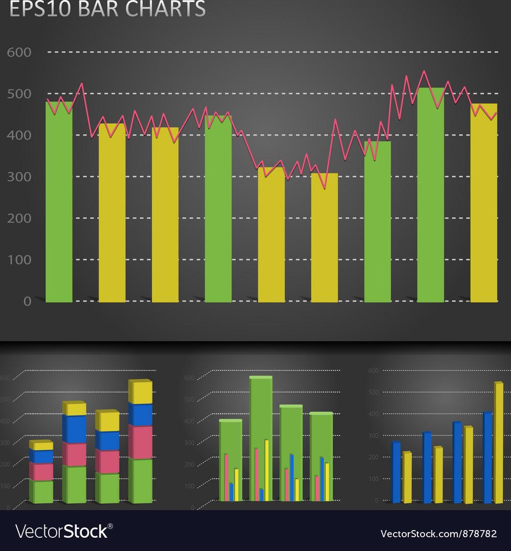 Graph bar chart vector