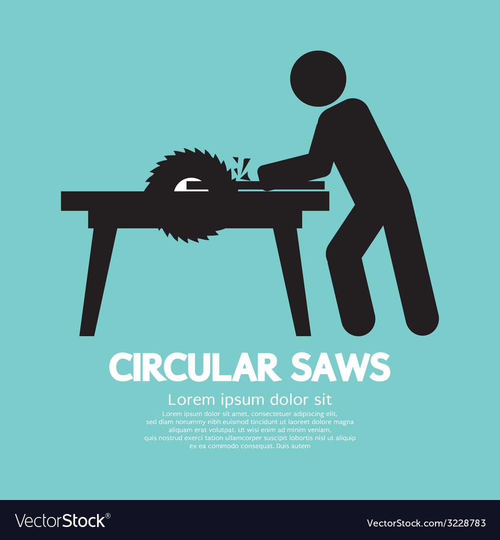 Circular saws graphic vector