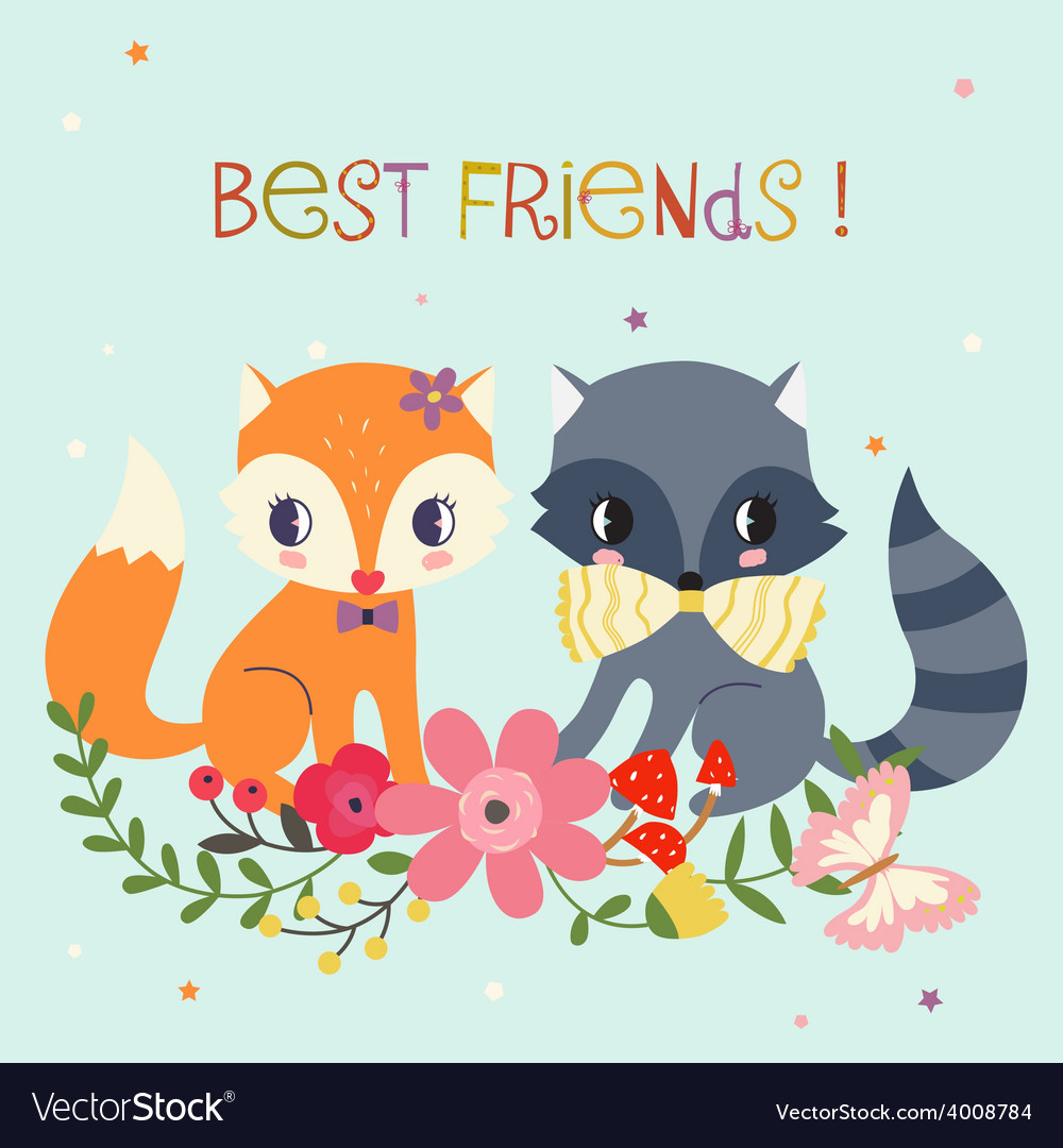 Best friends background vector
