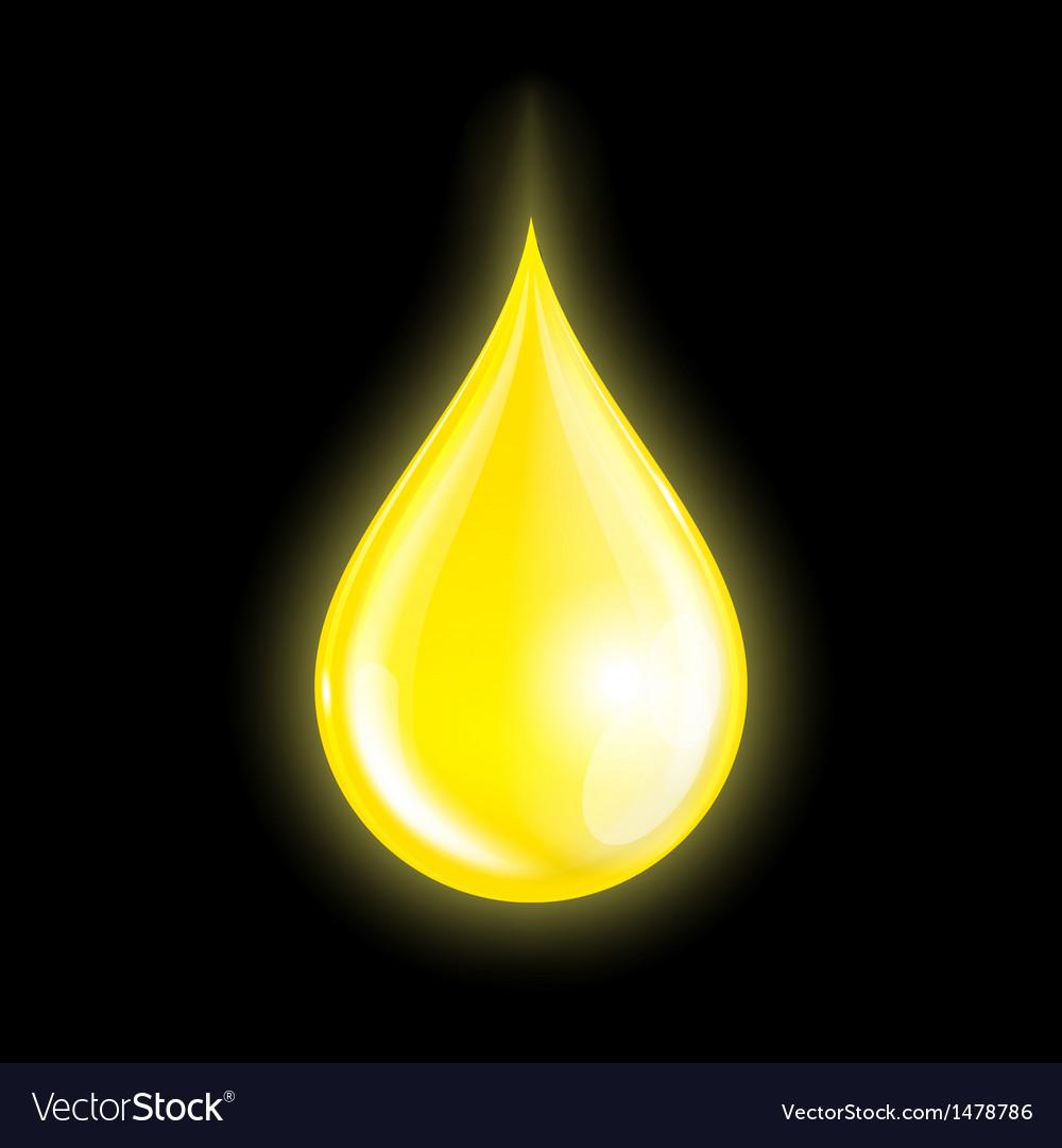 Drop of oil vector