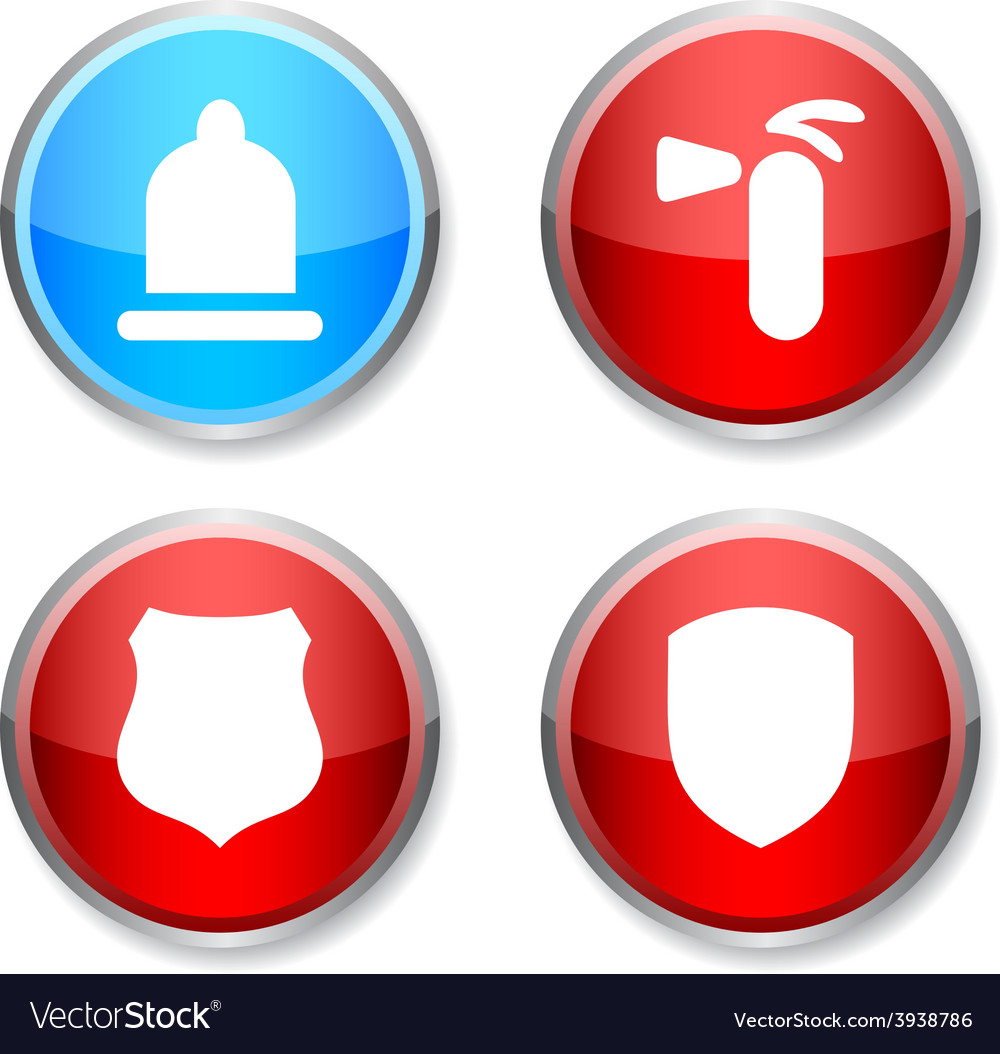 Safety round icons vector