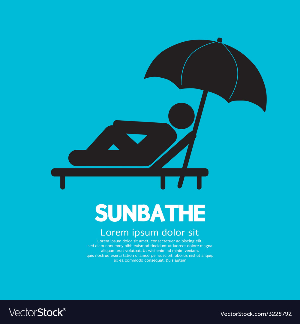 Sunbathe black graphic vector