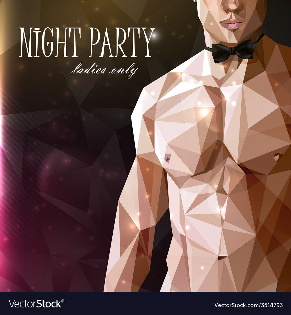 A caucasian or asian man nude fit body with bow vector
