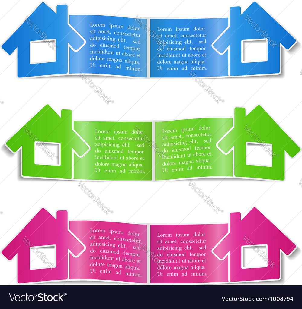 Brochure with a house vector