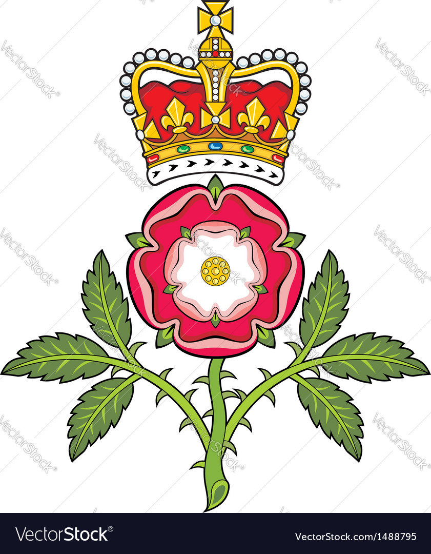 Royal badge of england heraldic tudor rose and vector