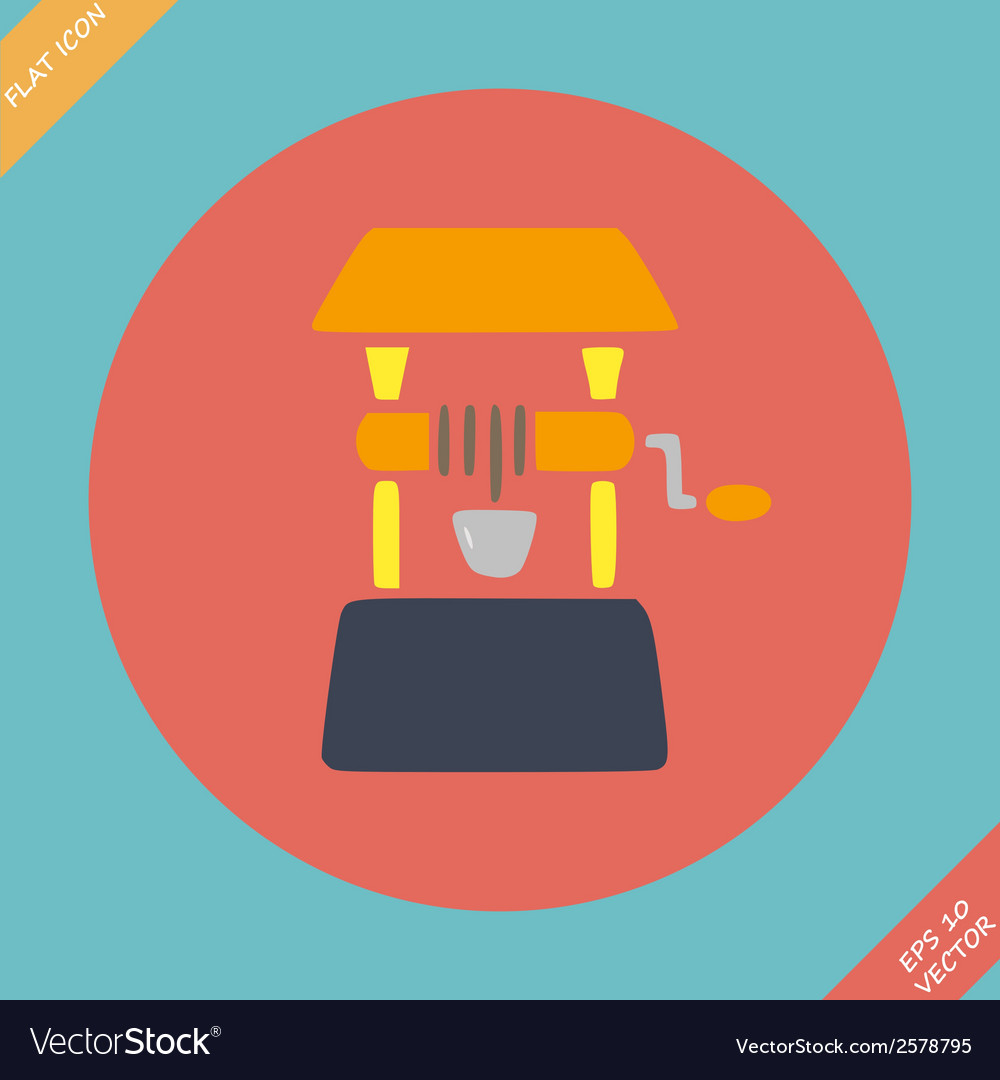 Well icon -  flat design vector