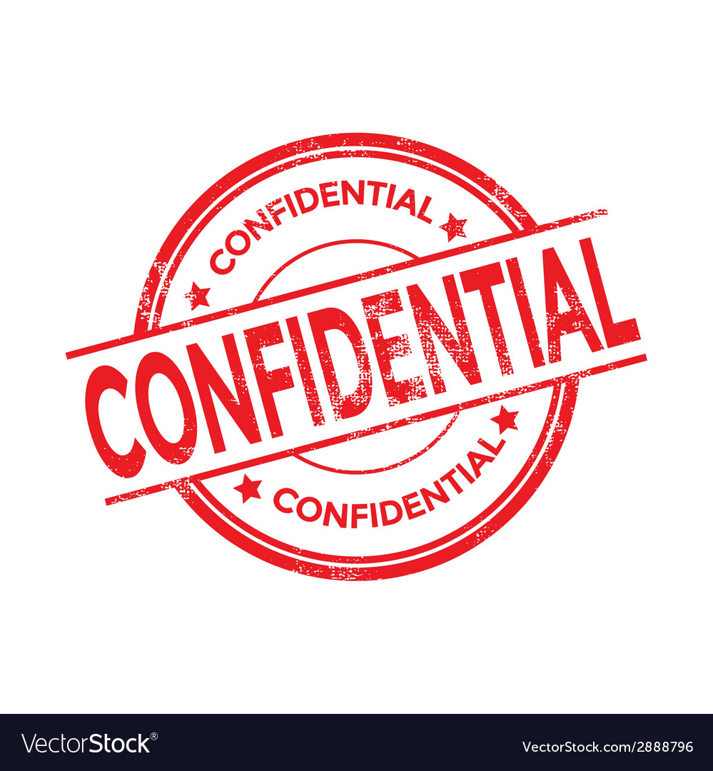 Confidential rubber stamp isolated vector