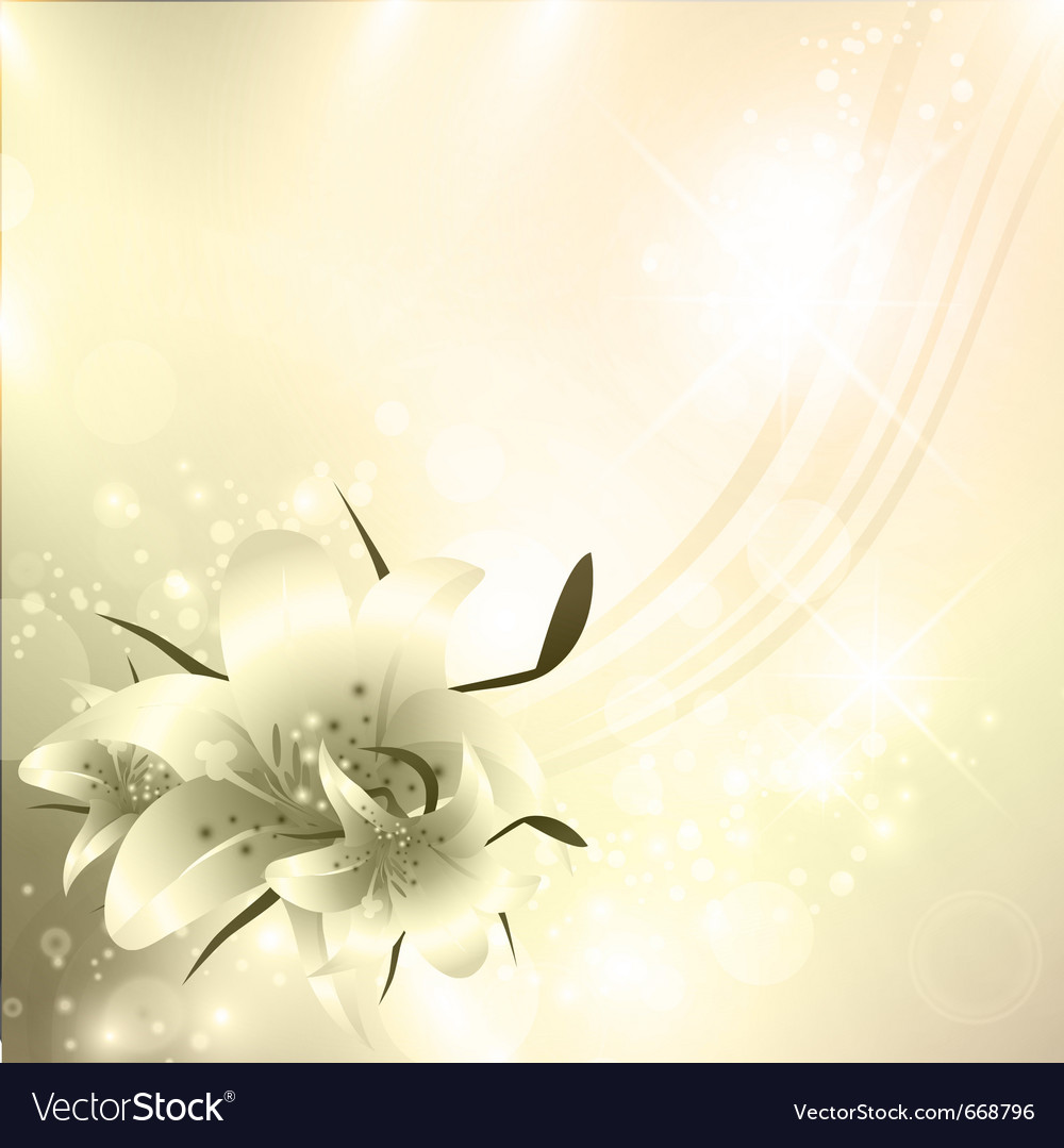 Golden floral holiday background vector