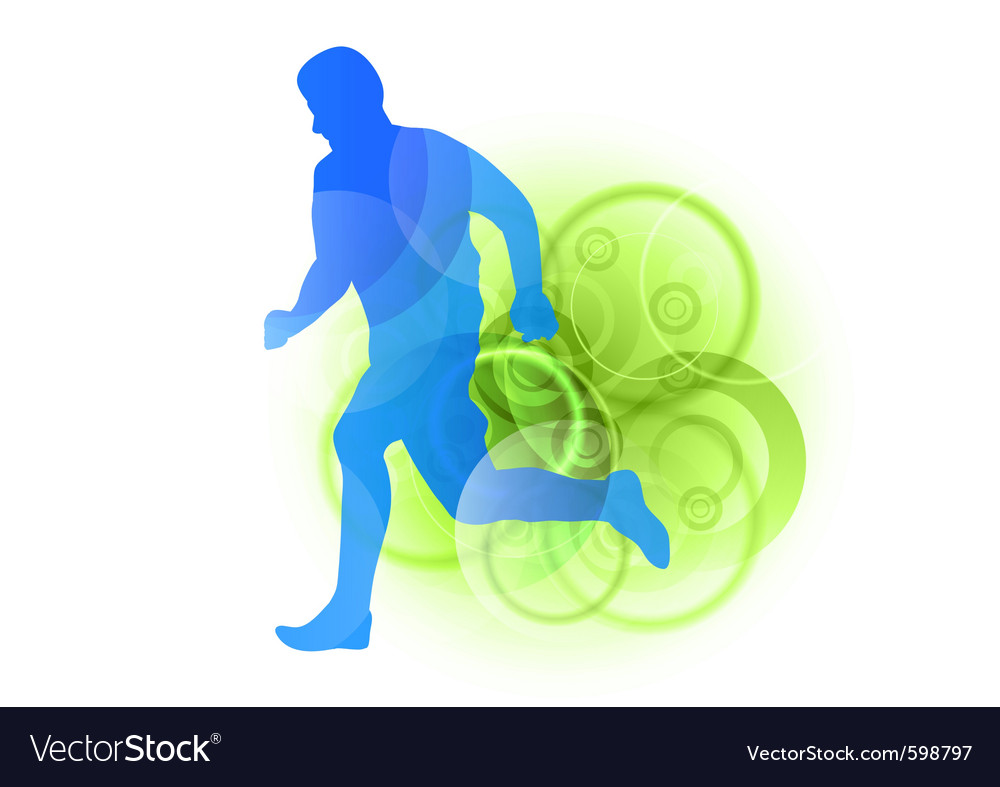 Silhouette of a runner vector