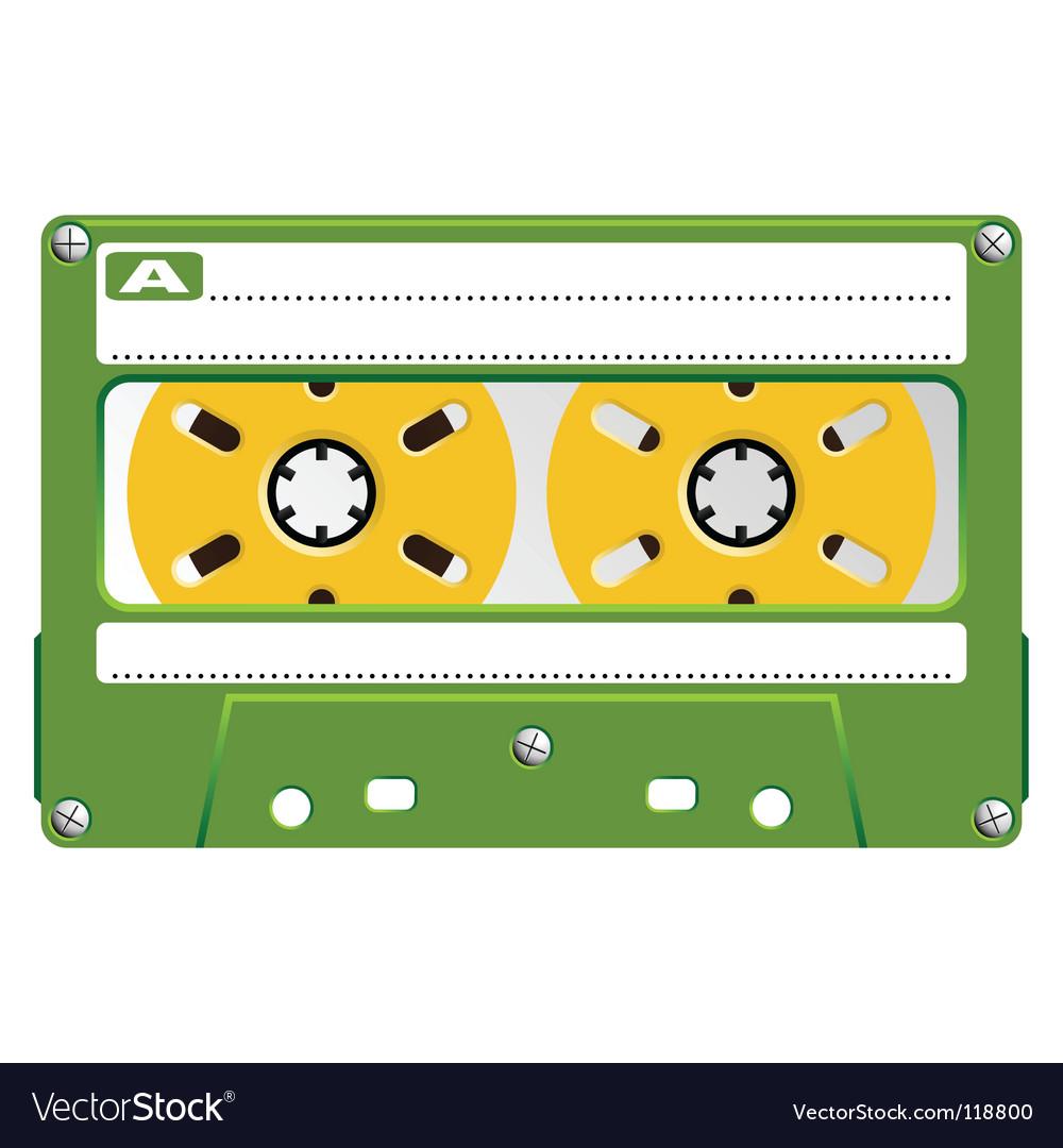 Audio cassette transparent box vector