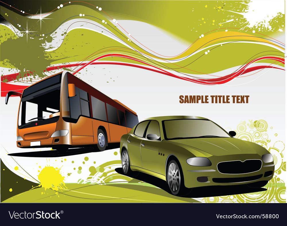 Grunge transport background vector