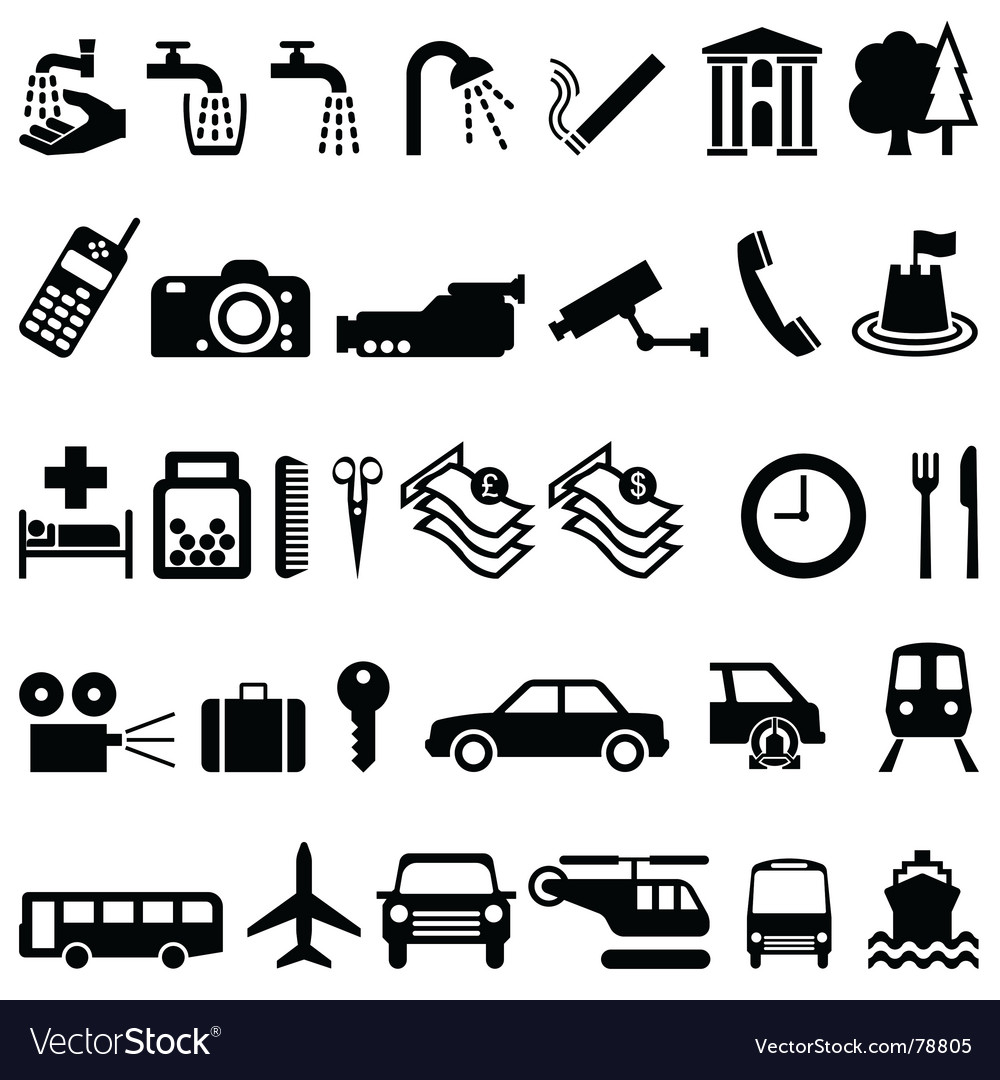 Signage elements vector