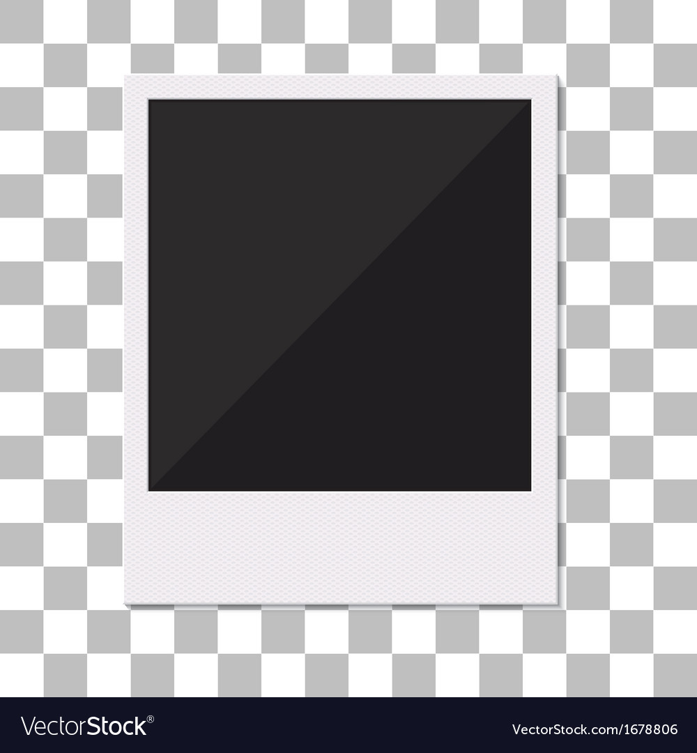 Blank retro polaroid photo frame vector