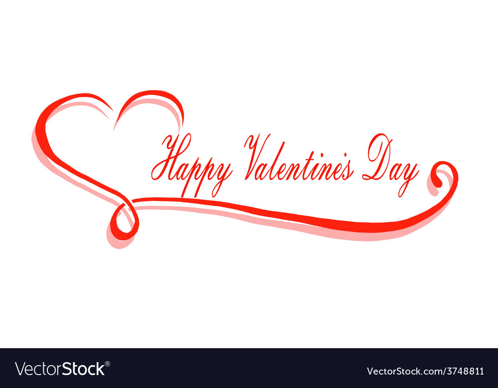 Happy valentines day greeting card background vector