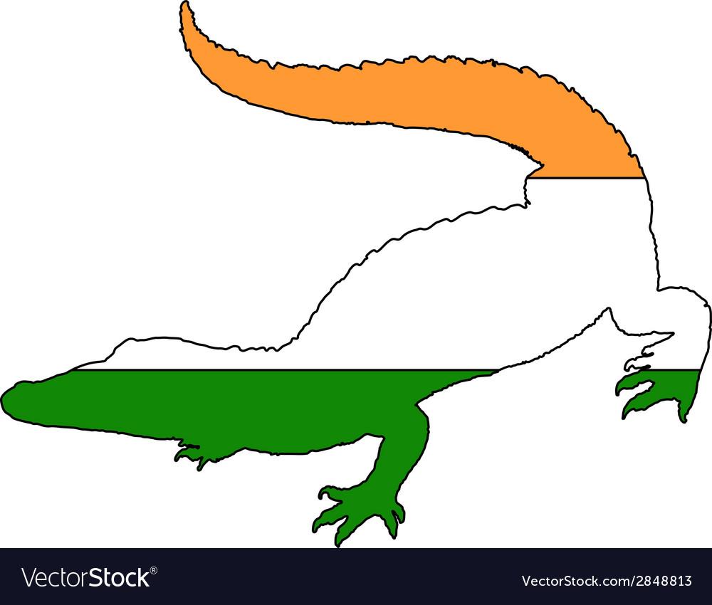 Crocodile india vector