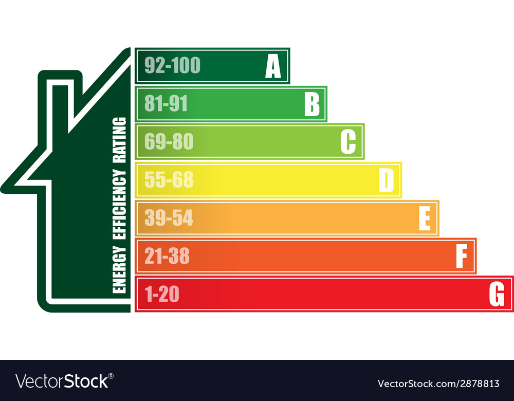 Energy efficiency house vector