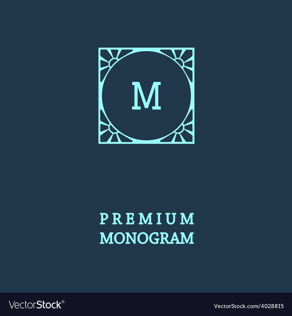 Stylish graceful monogram vector