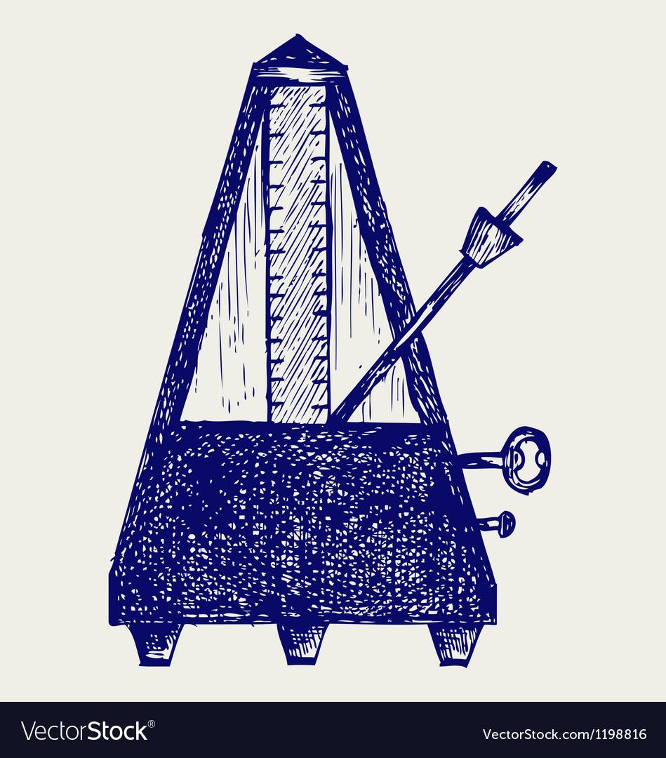 Musical metronome vector