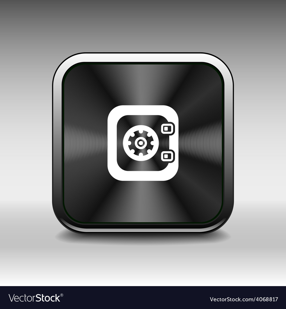 Flat icon of safe lock finance bank security prote vector