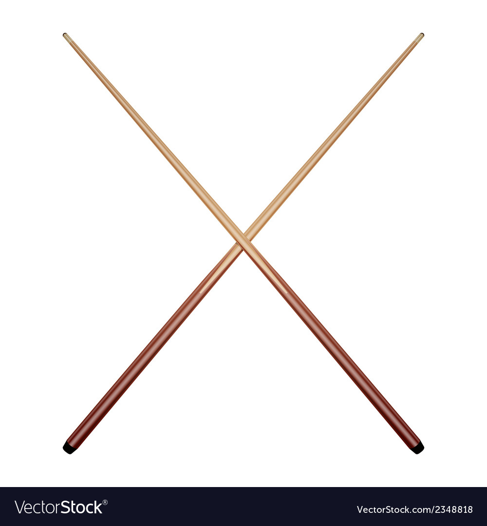 Billiard cues vector