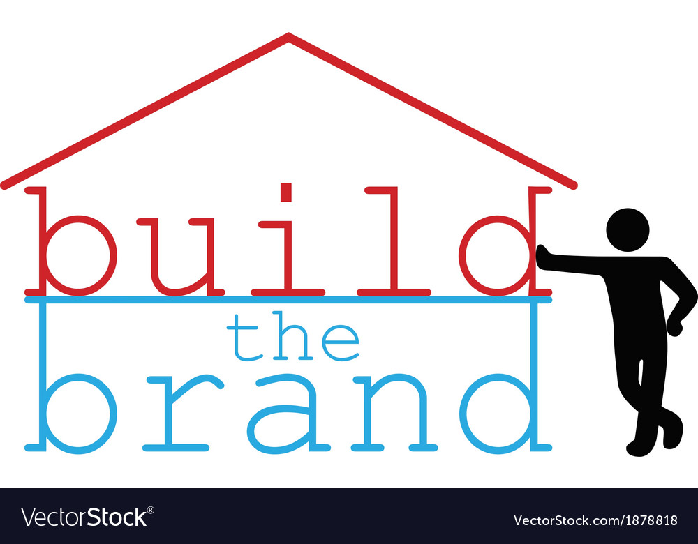 Build business brand promotion person vector