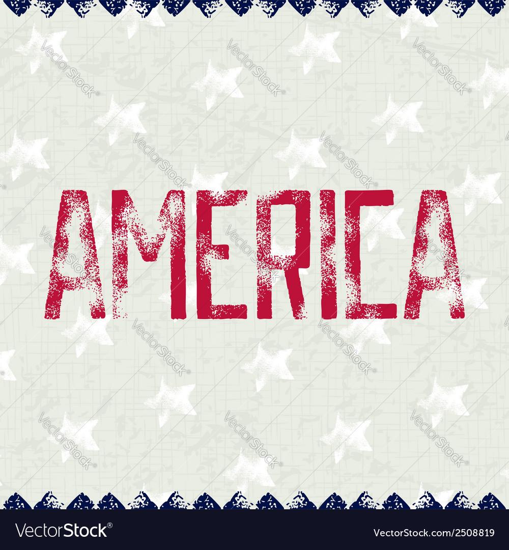 Patriotic background america vector