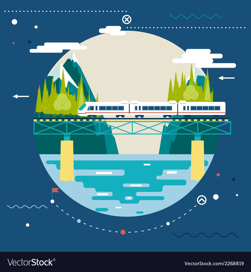 Planning summer vacation tourism and journey vector