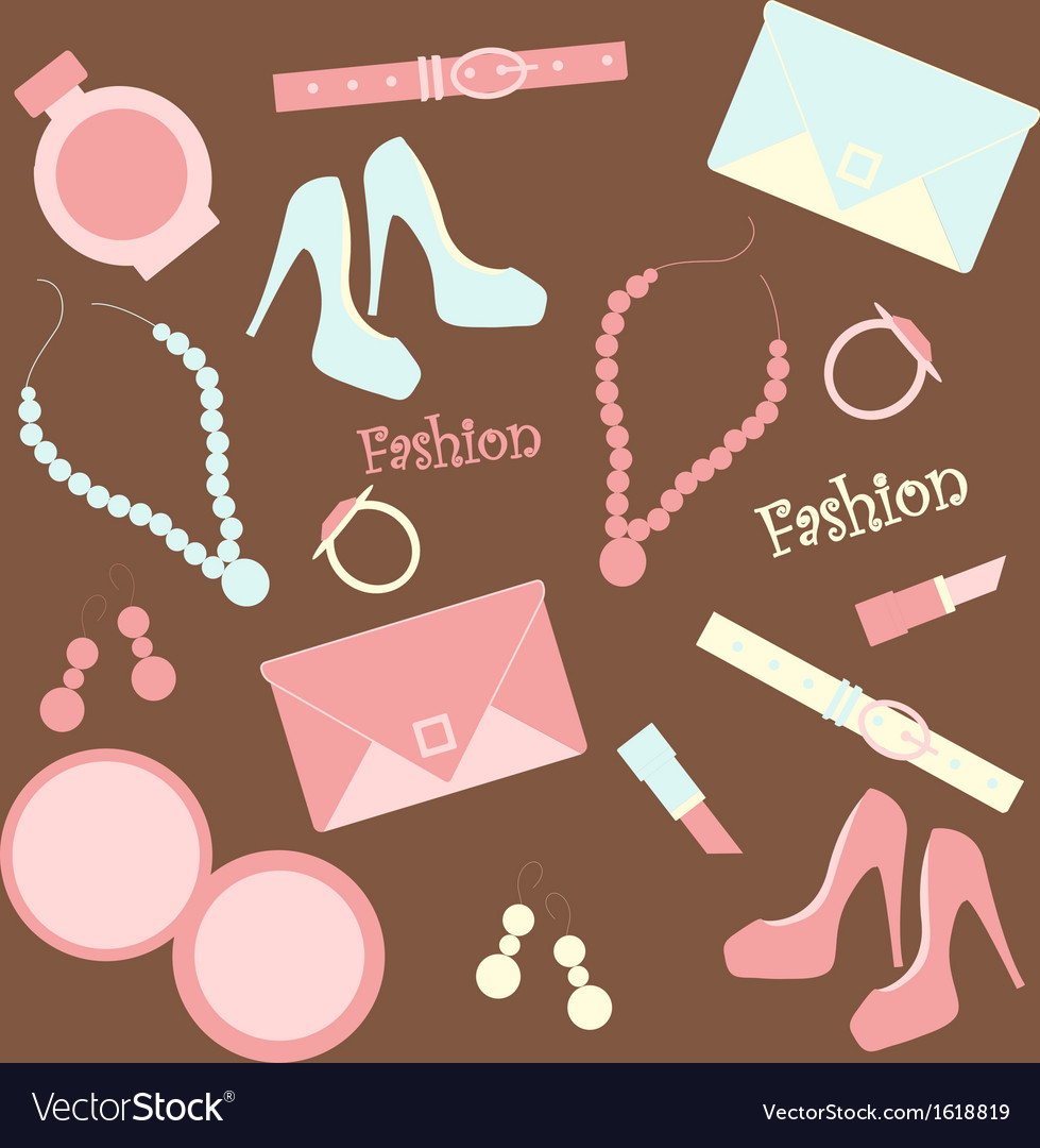 Seamless fashion background vector