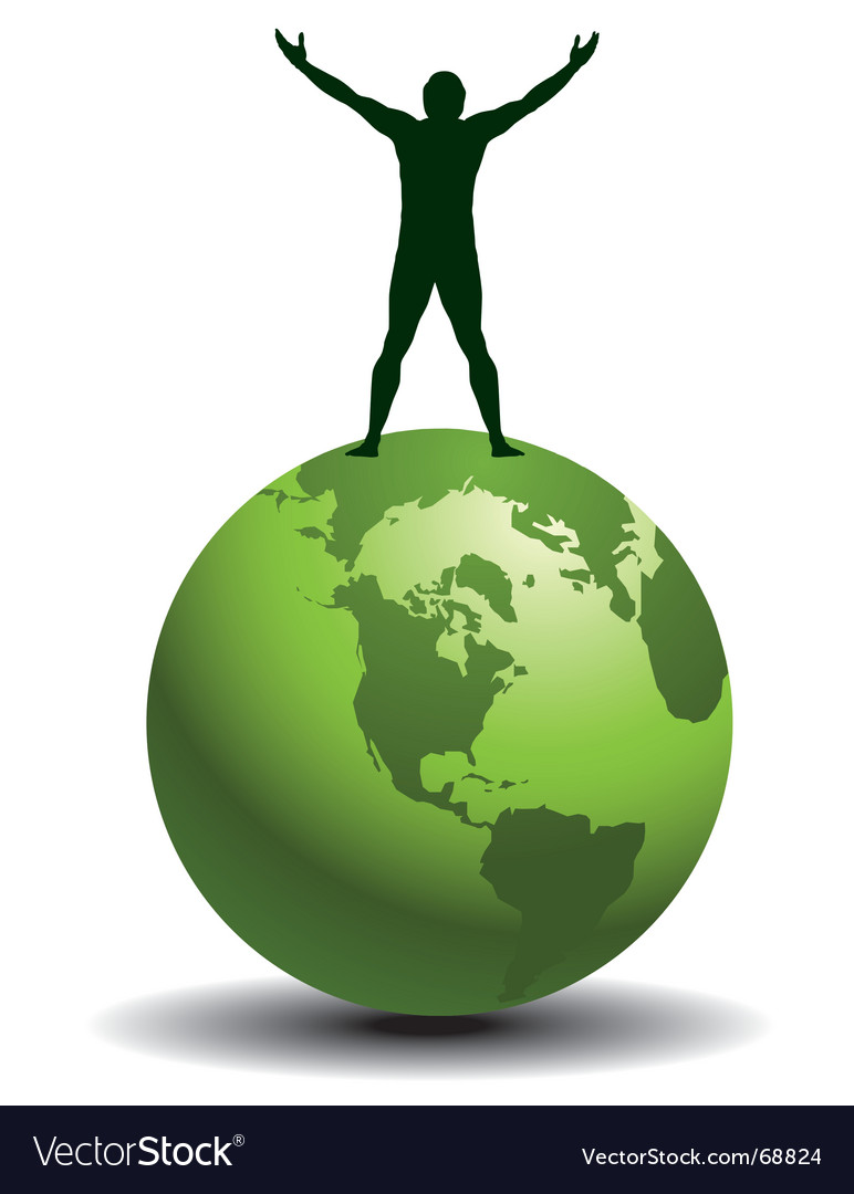 Globe man vector