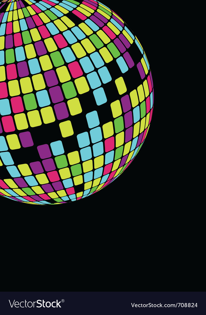 Glowing disco ball vector