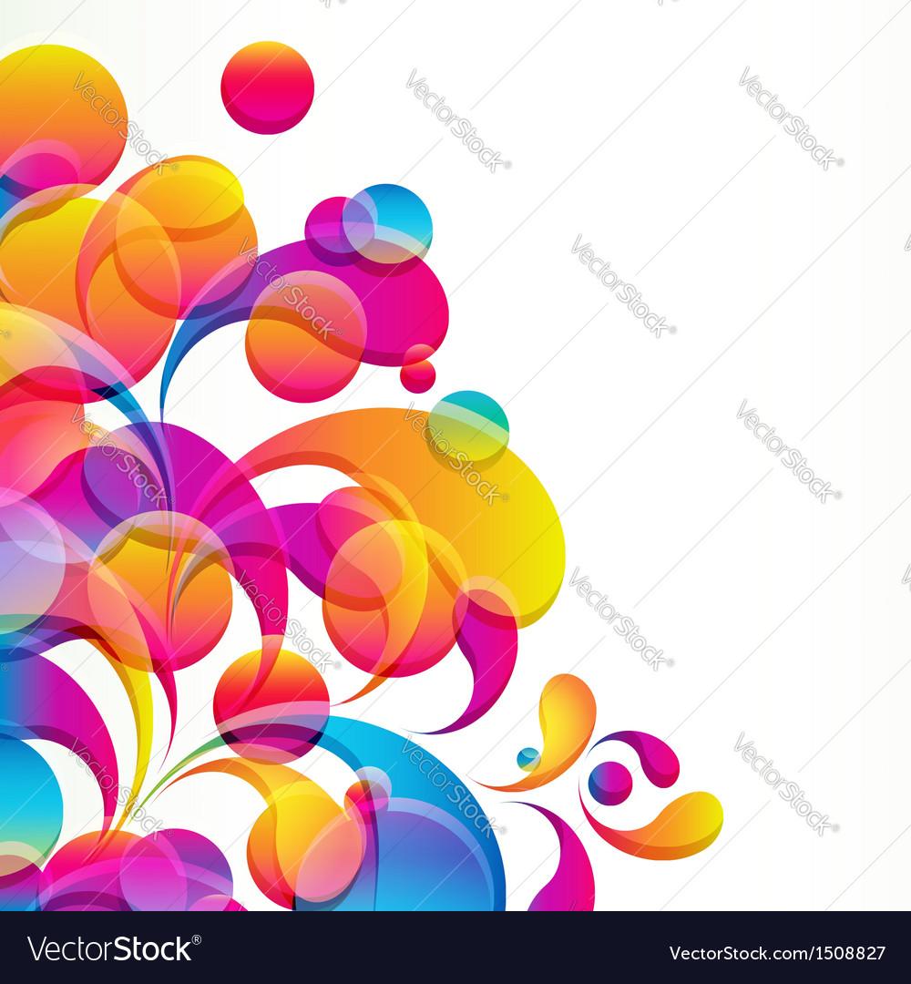 Bright circles vector