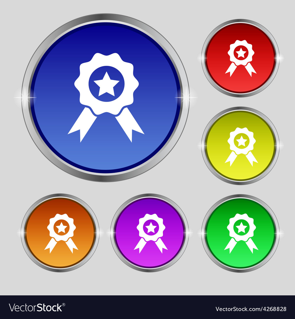 Award medal of honor icon sign round symbol on vector
