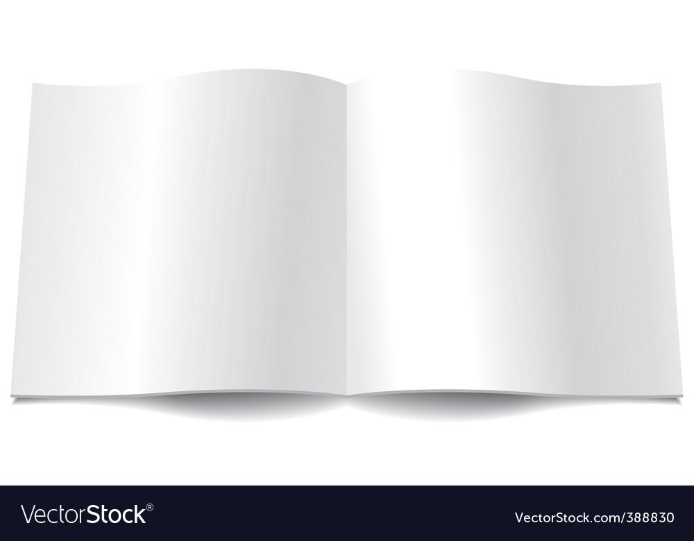 Magazine spread vector