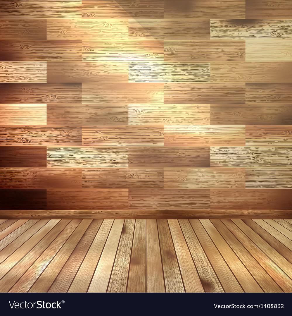 Old wooden interior room eps 10 vector