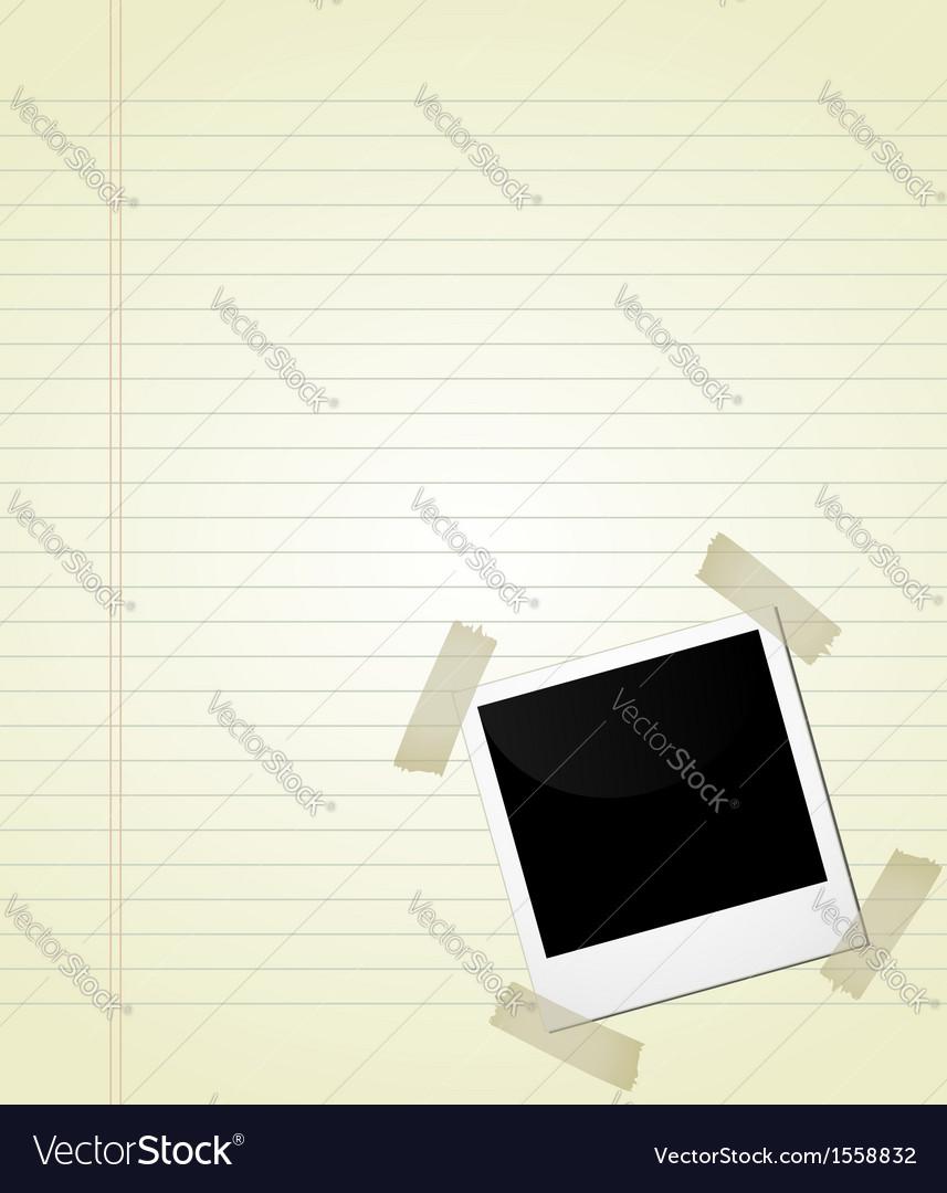Polaroid on page vector