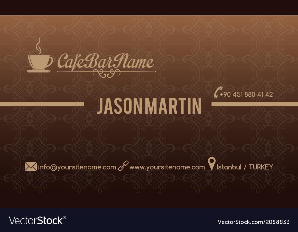 Cafe bar business card vector