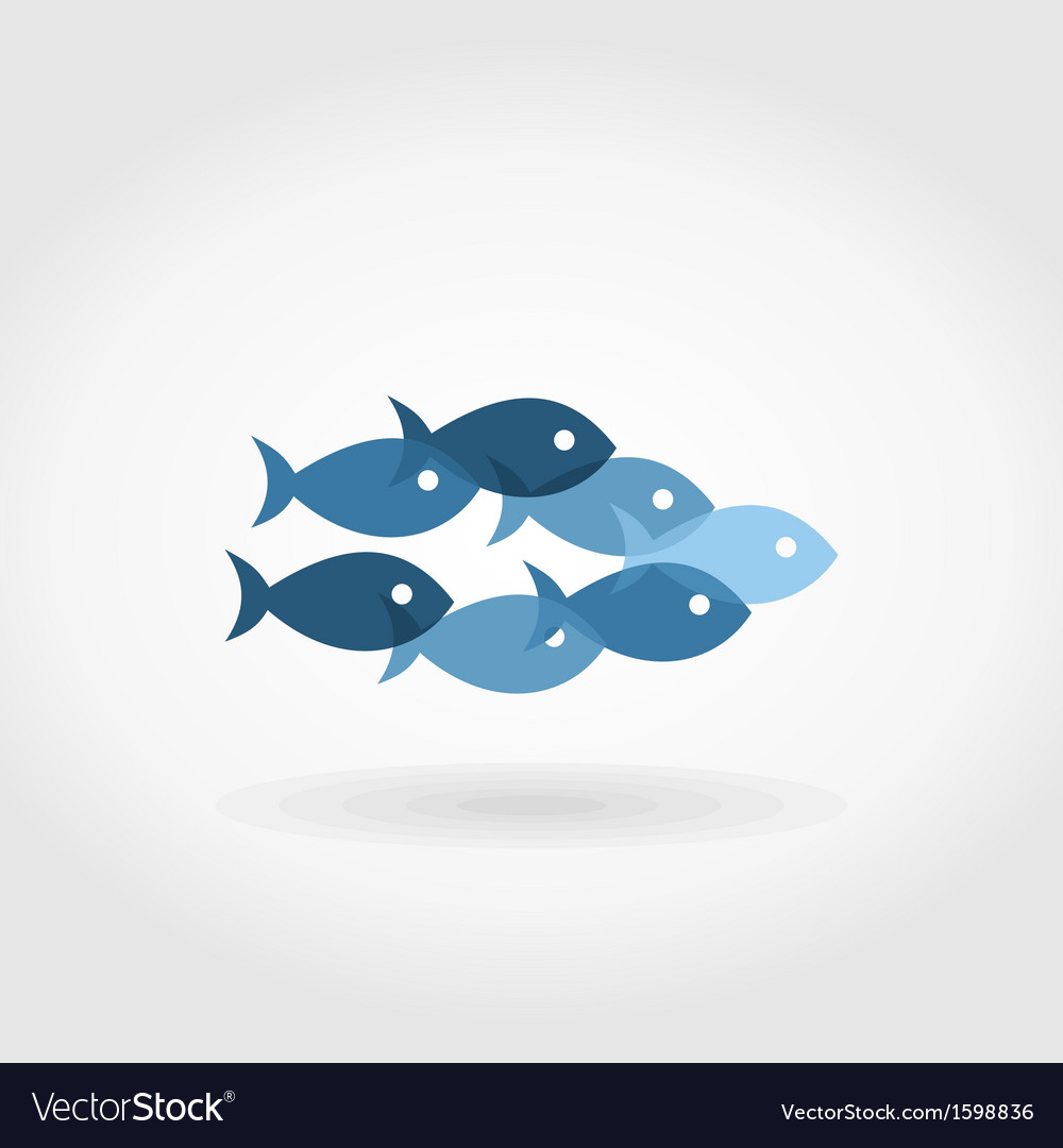Flight of fishes5 vector