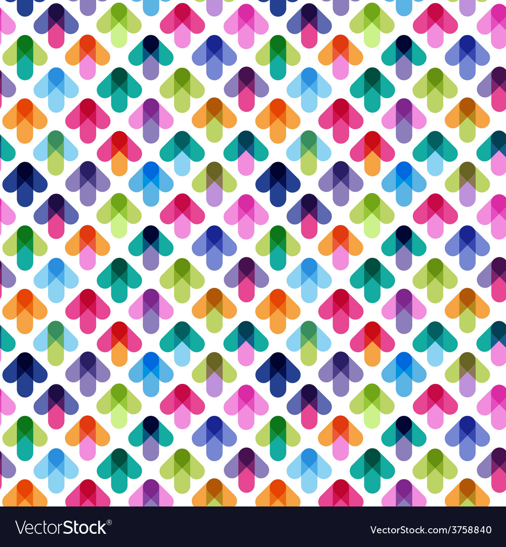 Seamless pattern from color arrows vector