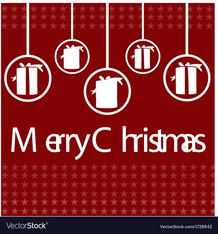 Elegant christmas card design vector