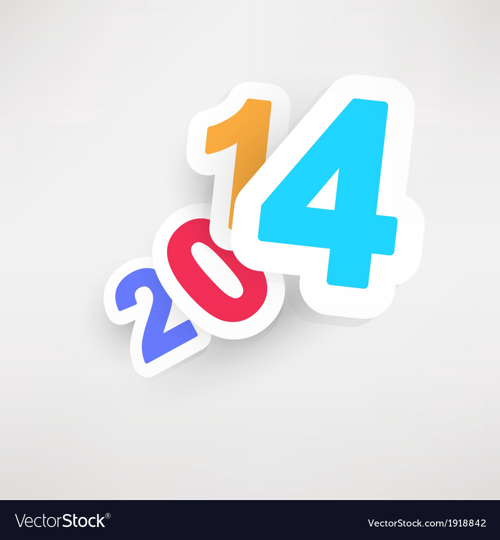 New years celebration design with vivid floating vector