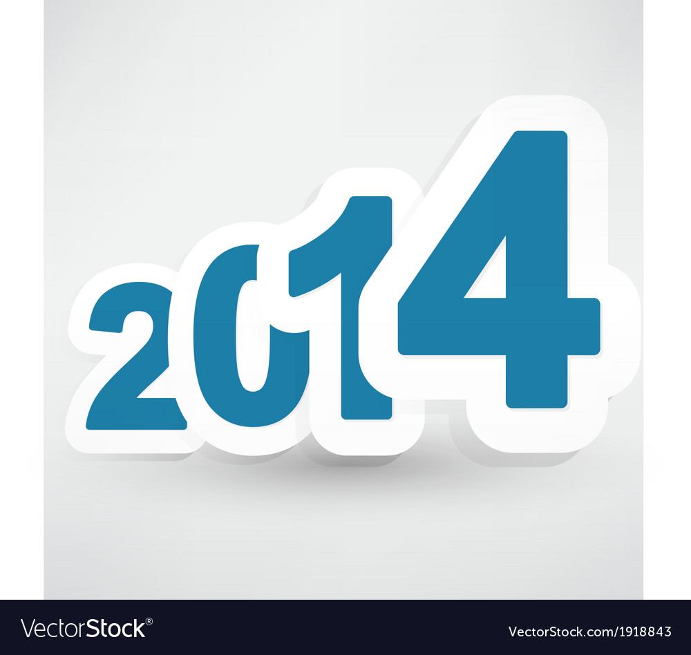 New years celebration design with blue floating vector