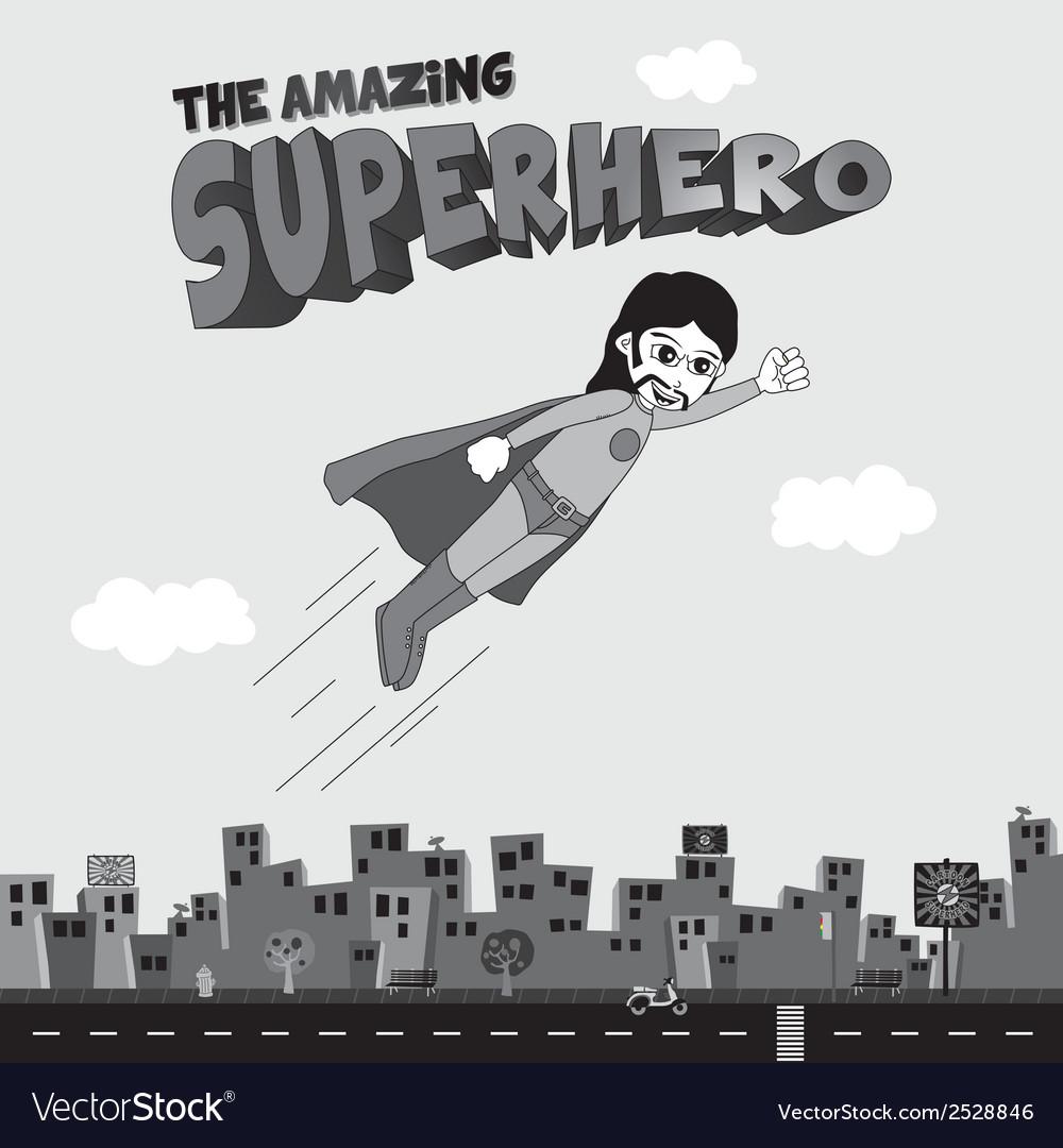 Superhero flying vector