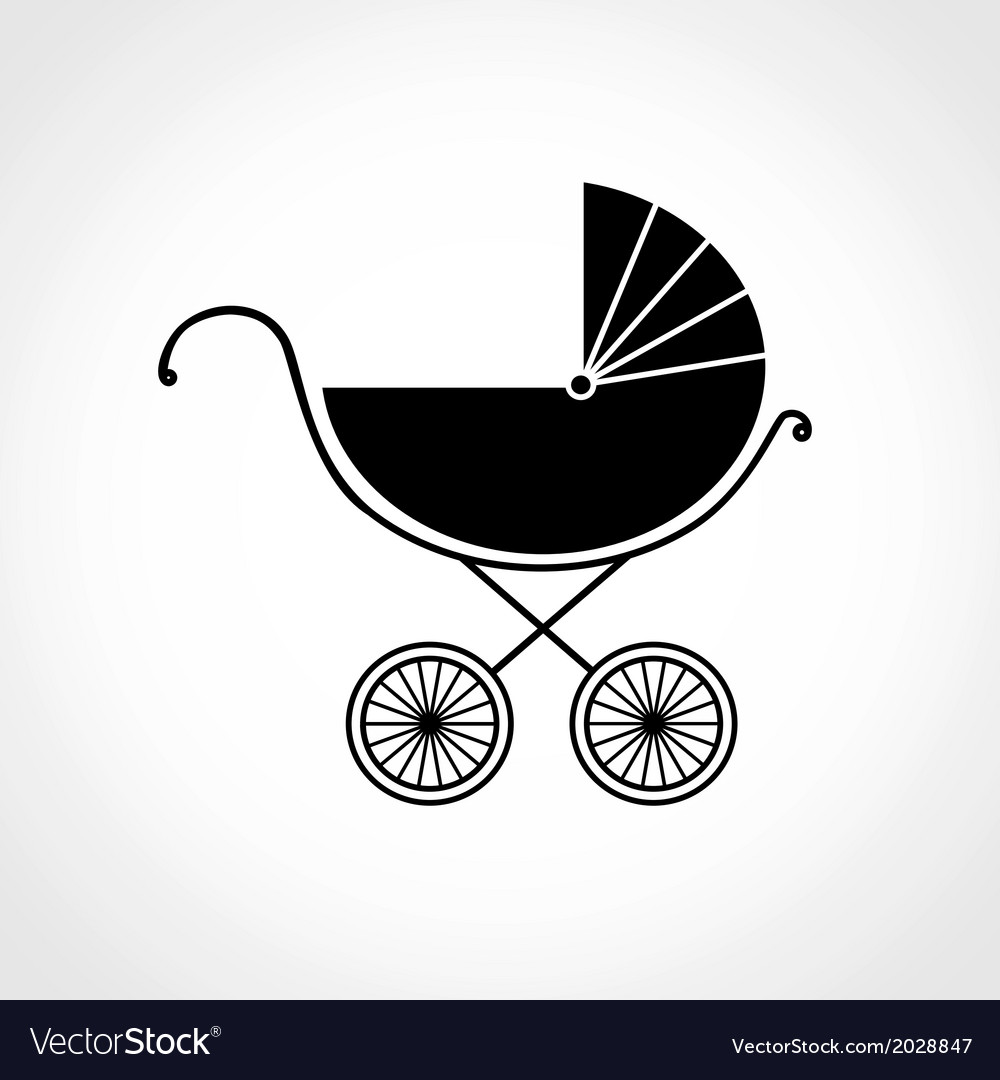 Pram for baby vector