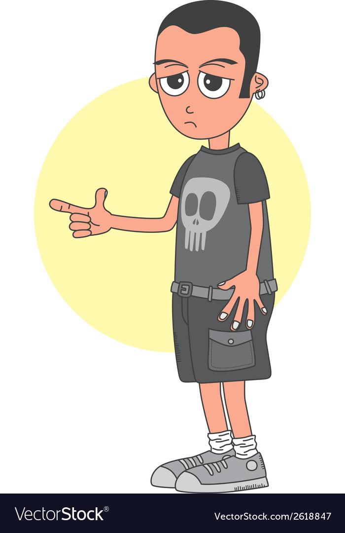 Punk kid vector